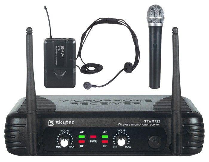 2 trådløse mikrofoner. Headset + Håndmik. 1498 -  ed92faf21001a