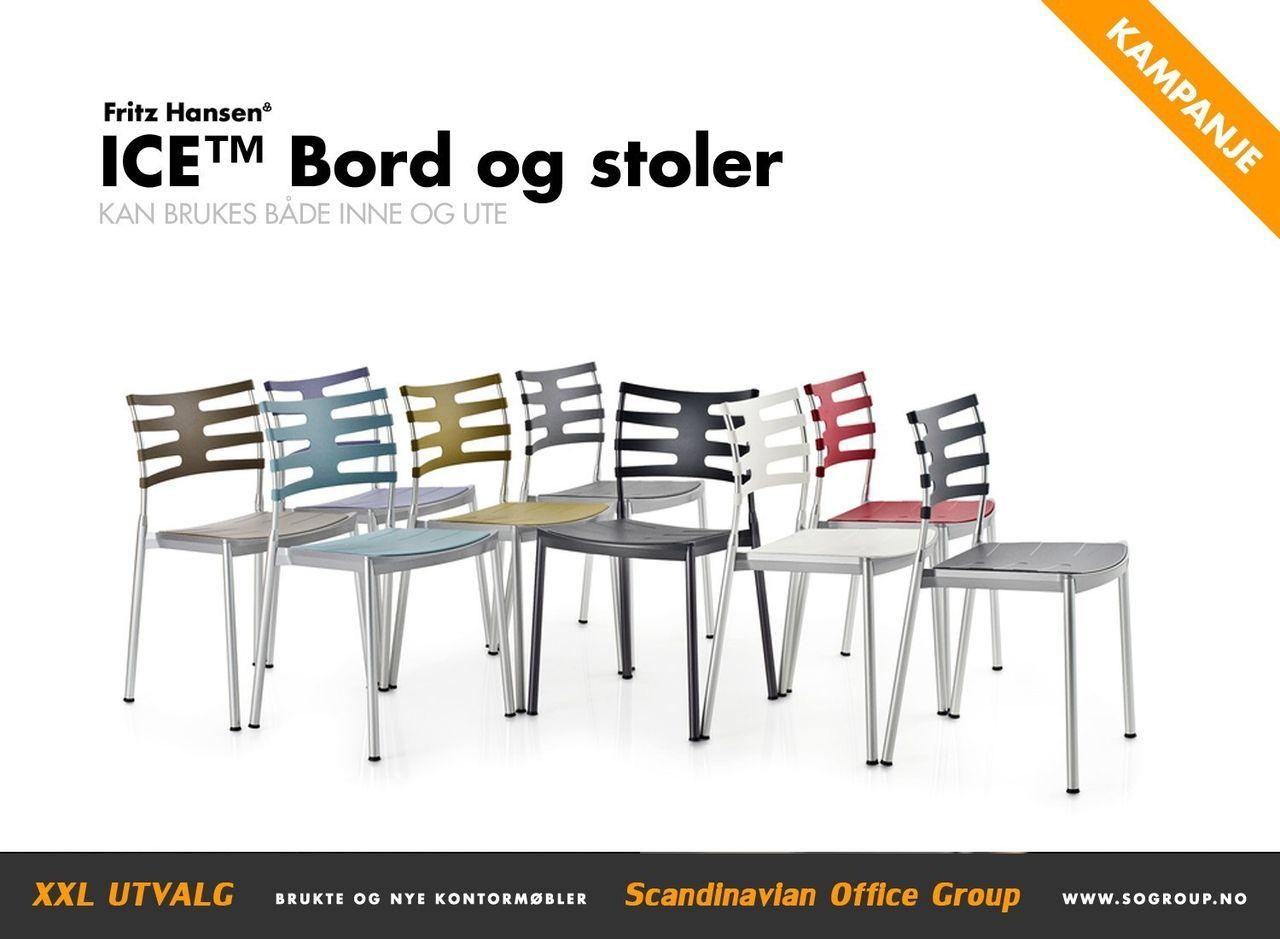1 stk Fritz Hansen ICE design stol BRUKTE KONTORMØBLER