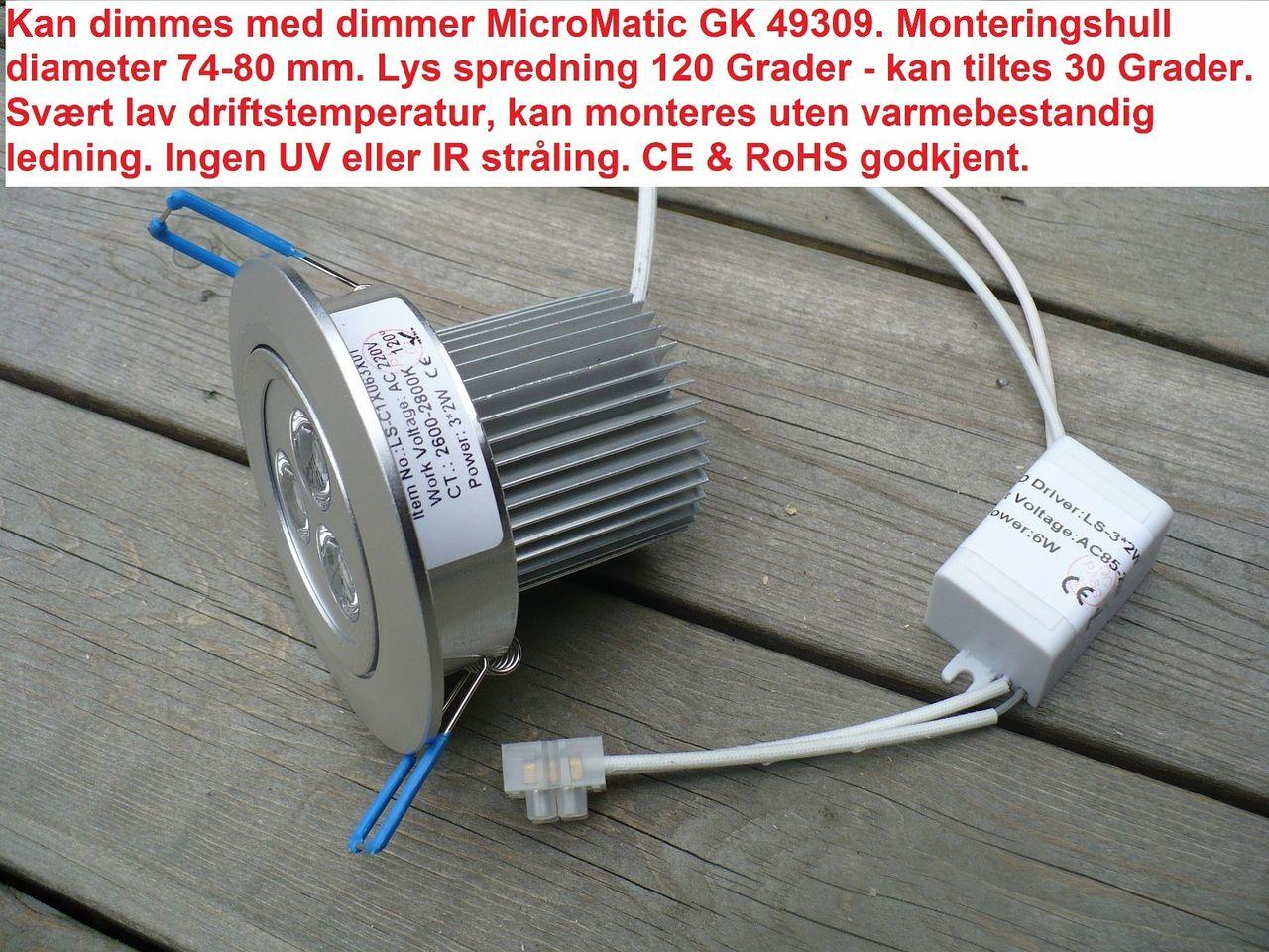 LED Downlight 2x3 W (6 Watt)