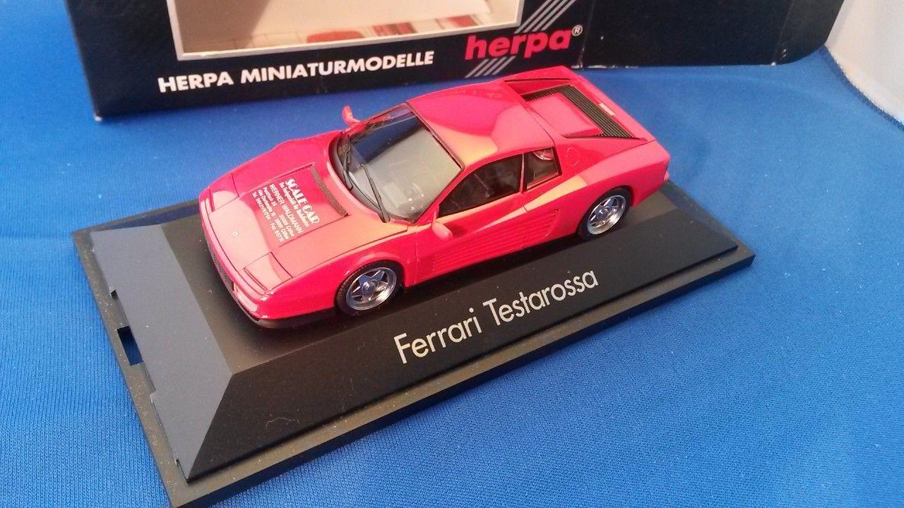 Ferrari Testarossa fra Herpa, High Tech Collection 1:43 - Manger  - Ferrari Testarossa scal 1:43 med ekse  FRAKT: Følger postens satser. - Manger