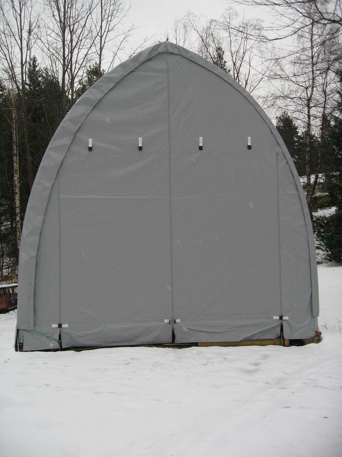 JIT 1639 S Plasthall 12 x 5 x 5 meter 600 gr. grå PVC duk