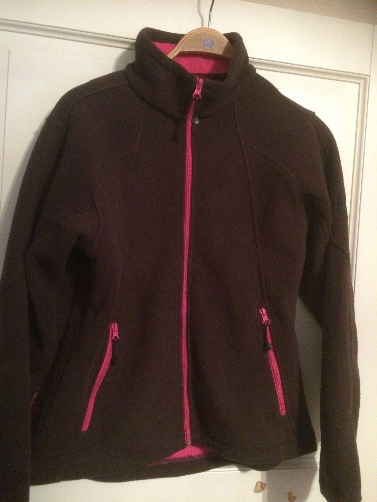 074fe7f2 Deilig fleece jakke fra 24 outdoor str.l. Fin fargekombinasjon av brun og  rosa. Kr. 75,- (1/12)