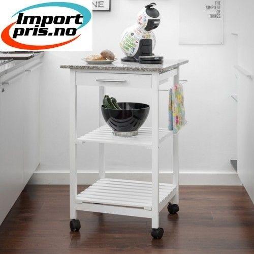Hyggelig Kjøkken tralle - Praktisk avlastningsbord | FINN.no NA-76