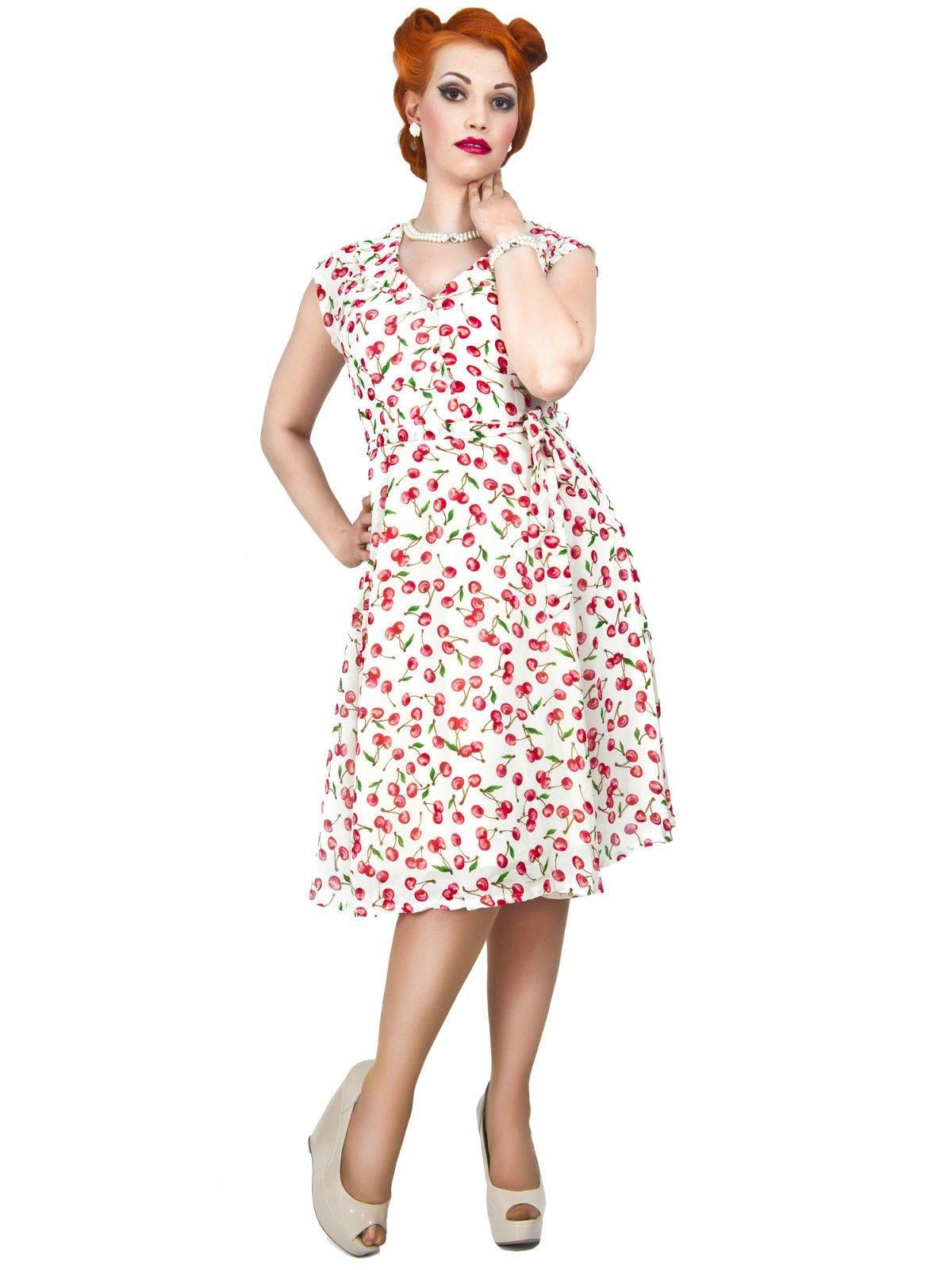 fecda7c8 Nydelig kjole fra Collectif. Kjolen har en klassisk 1950-talls snitt og  nydelig passform. Behagelig å ha på seg, stoff med tung fall. Passer str.L,  pris kr.