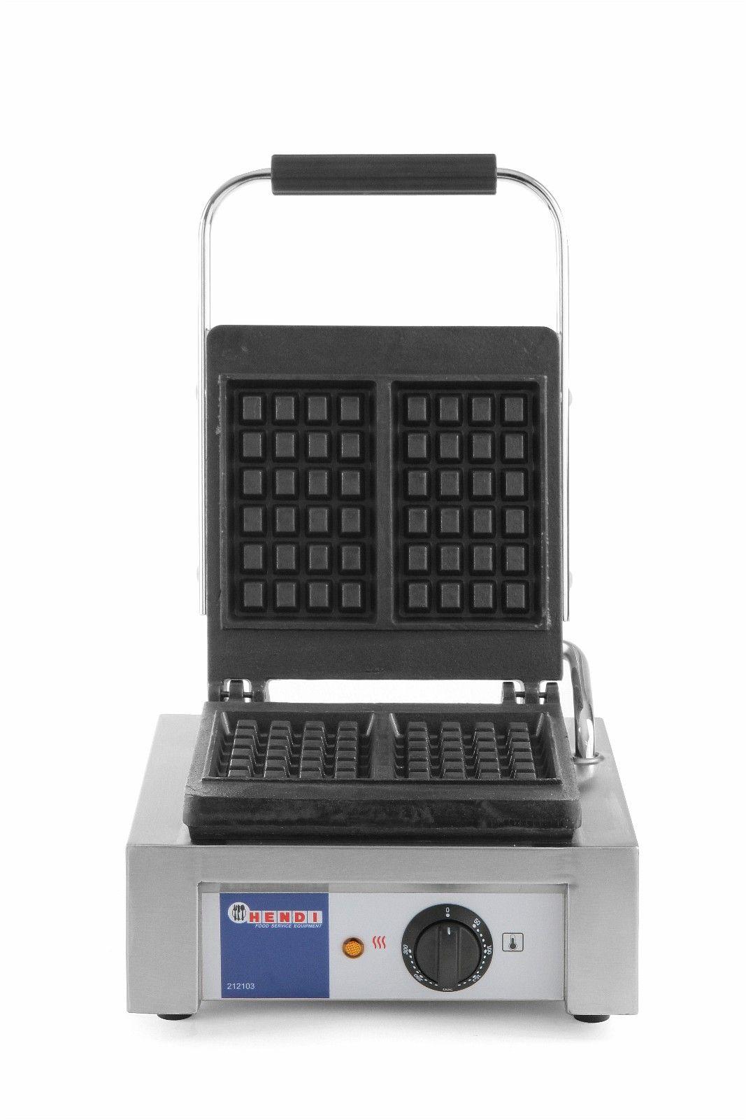 BELGISK VAFFELJERN - Oslo  - Waffle maker.Belgiske vaffler.  Støpejernsoverflate med non-stick belegg. Termostatstyrt. Avtagbart dryppbrett. Gir 2 stk vaffler.  EffekT. 1500W-1 fase. Mål (BxDxH)= 32x48x22,6cm & - Oslo