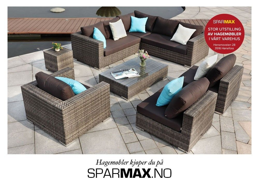 Berømte Moonlight hagemøbler/sofagruppe/sofa/utemøbler/rotting/modulsofa  @BD-07