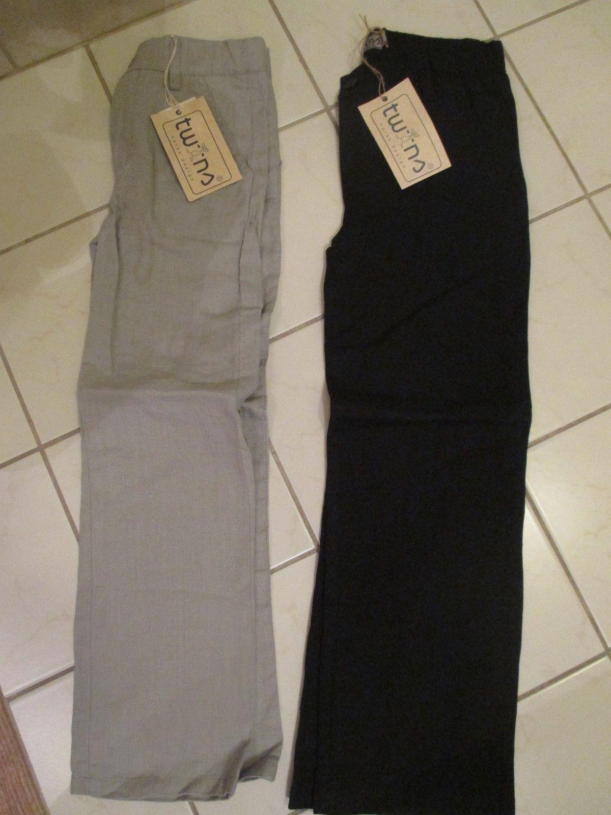 d38eed7b 1. NYE lin bukser fra Twins begge i str. 7 år. Selges for 160,- pr. stk.  eller 250,- for begge. (1/6)
