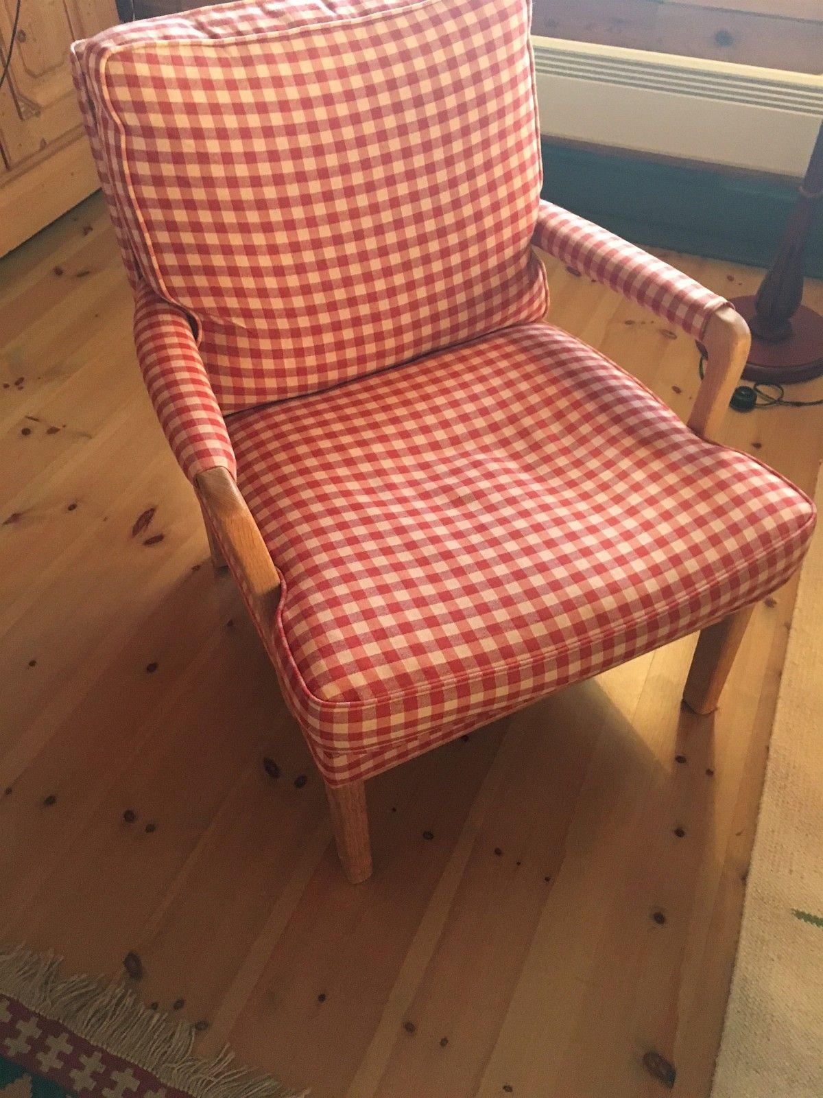 Groovy Hødnebø stol med rødrutet ullstoff ønskes kjøpt | FINN.no TH-15