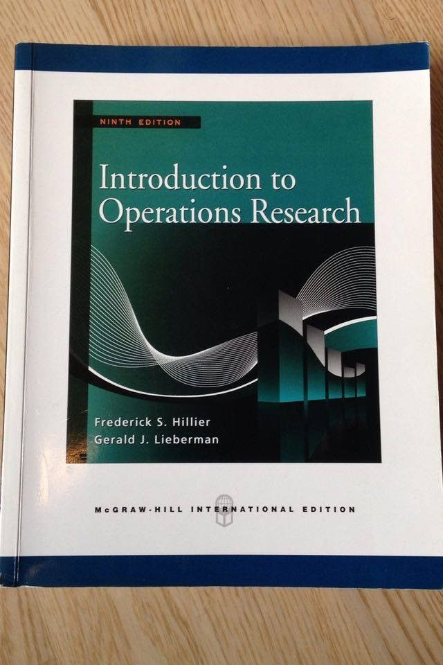 d3d68bac34363 Introduction to Operations Research - Frederick S. Hillier - Paradis -  Introduction to Operations Research