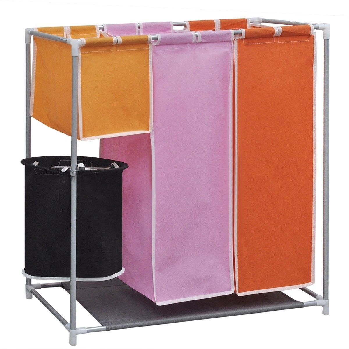 Modernistisk 3-delt skittentøyskurv med sortering og en vaskekurv (242058 QS-61