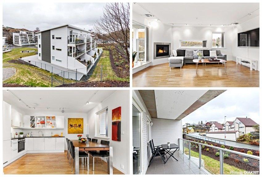 HOP - Meget lekker endeleilighet i byggets 2. etg - heisadkomst - romslig balkong på 12 kvm - garasjeplass