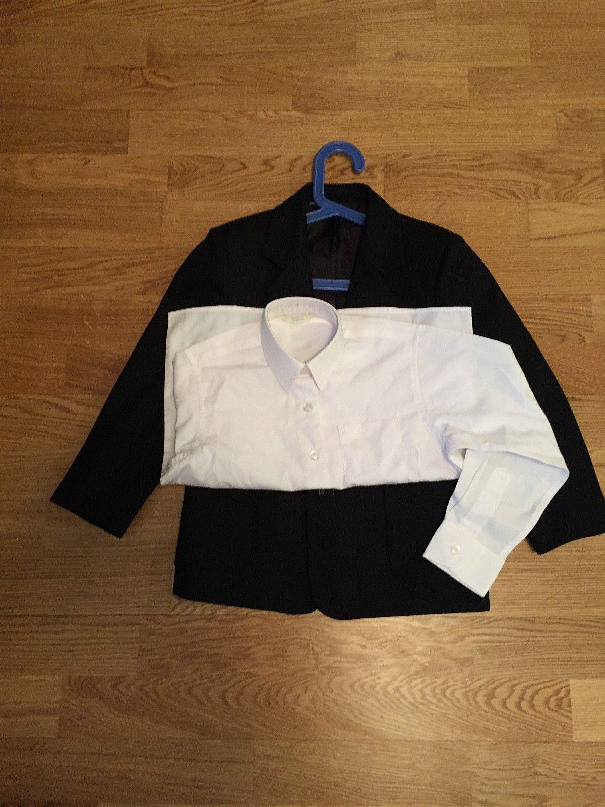 Blazer dressjakke (sort) & skjorte (116cm, 5-7 år) - Oslo  - Blazer dressjakke fra Bhs og skjorte fra Marks & Spencers i England. Jakka er brukt bare en gang og skjorta er ubrukt. Selges sammen til 200kr. Kan hentes i Oslo eller kan sendes. - Oslo