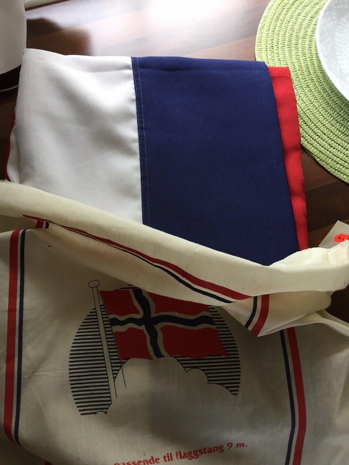 Nytt norskt flagg - Kråkerøy  - Nytt flagg 3m, til 9 meters stang - Kråkerøy