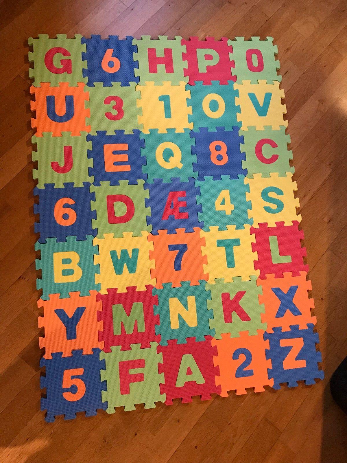 Baby/småbarn matte med tall og bokstaver - Stavanger  - Pent brukt matte til å ligge på og leke med.  Minstepris er kr 50,- - Stavanger