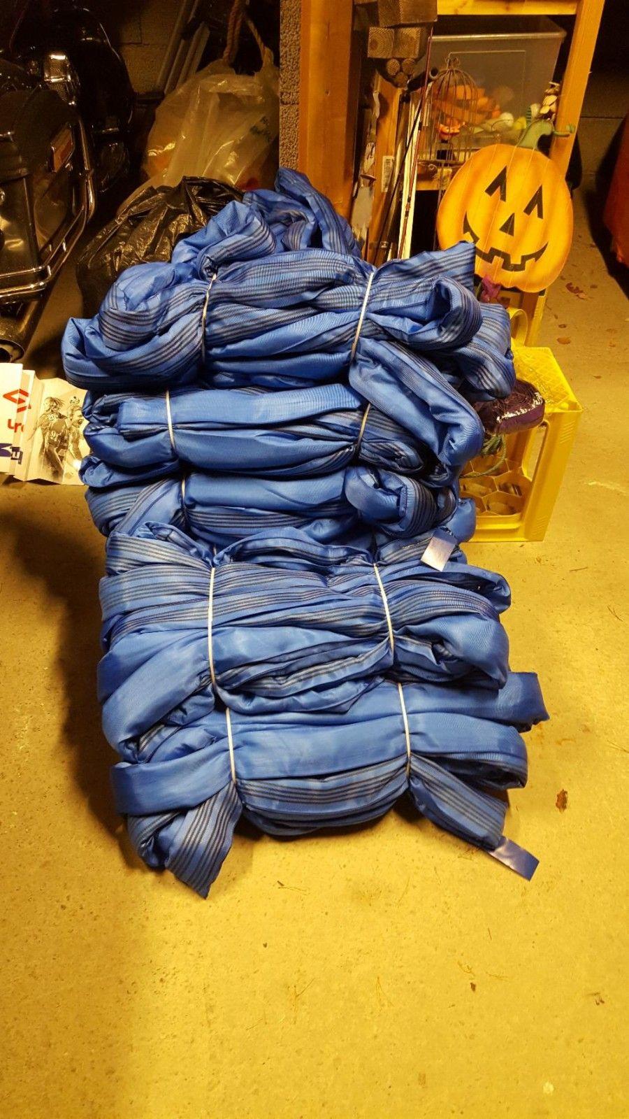Rundsling 8 tonn 24/12 meter - Hommelvik  - Rundsling/løftestropp sertifisert til 8 tonn. 24 meter/12 meter. Fin for f.eks båtløft og andre myke løft. Har 10 stk, 7 helt ubrukte og 3 som har hatt 2 løft.  300,- per stk eller 2500,- for alle 10 samlet. - Hommelvik