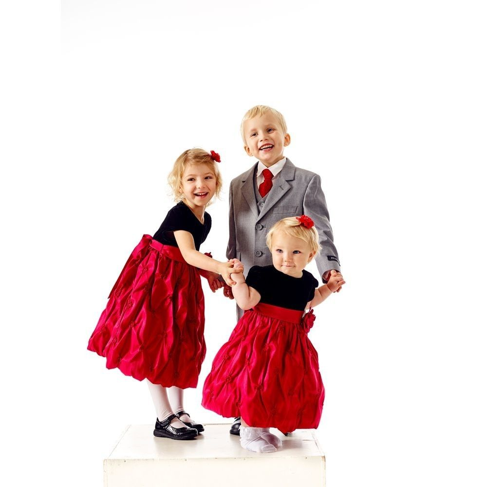 2d30966a98c9 Pascal julekjole rød   svart 2-12 år