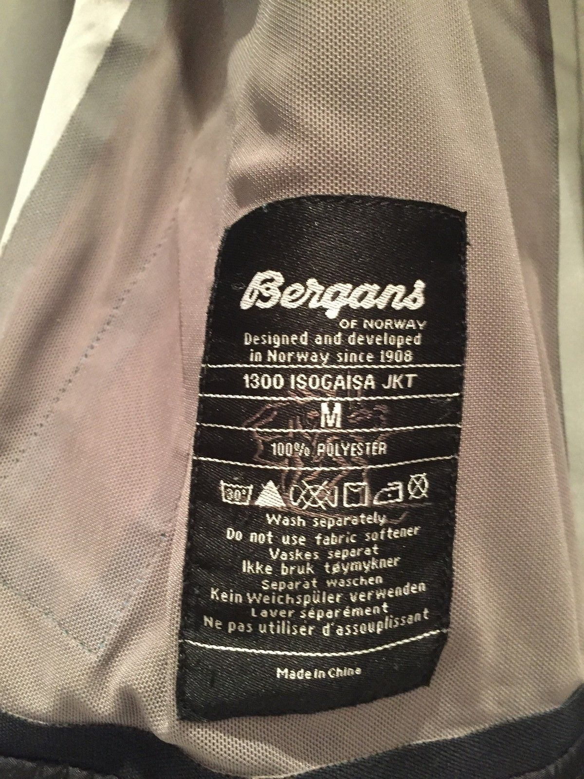 Bergans Isogaisa str M, herremodell   FINN.no