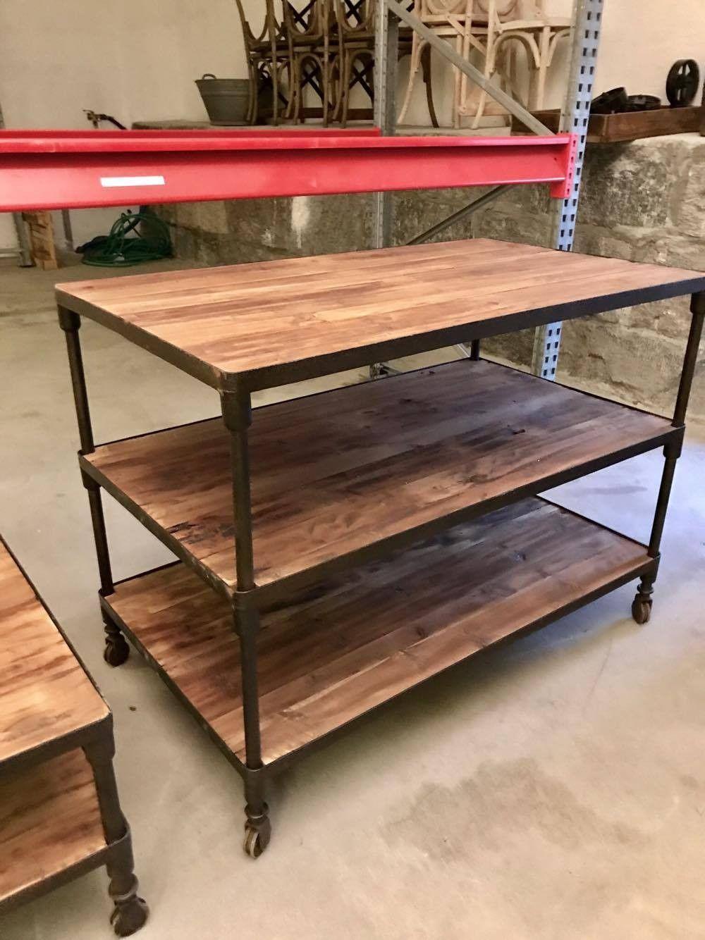 Fasjonable Kjøkkenøy/avlastningsbord m/hjul | FINN.no SE-67
