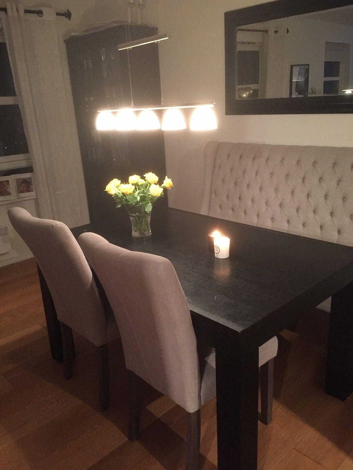 Spisebord pluss to stoler selges - Bønes  - Spisebord med stoler selges.Spisebord fra Skeidar og stoler fra Møbelringen. - Bønes