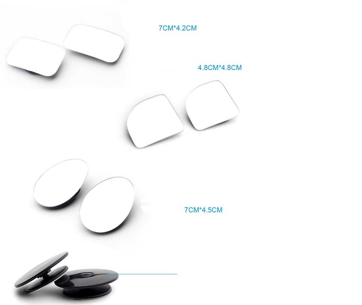 Car Mirror 360 Degree Wide Angle Convex Blind Spot Mirror - Oslo  - Item Type: Mirror & Covers  Model Year: 2017  Material Type: GLASS  Car Maker: For All Cars  Car Model: For all car  Special Features: expands field of vision    Item Length: 9.5 cm&# - Oslo