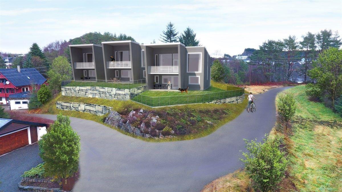 Straume - 3 prosjekterte rekkehus med garasje, 3 soverom og gjennomgående god standard. 1 solgt!