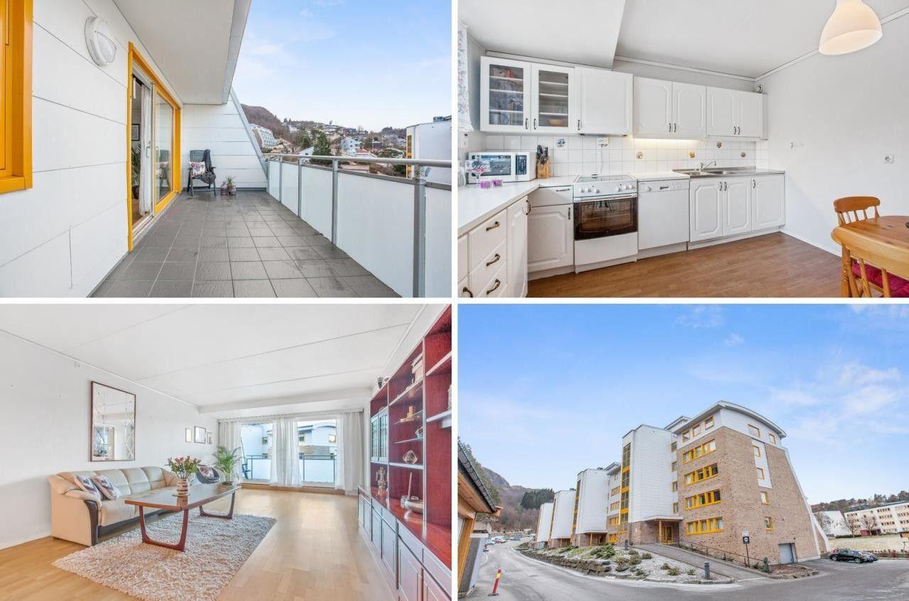 VISN. 29.03 - Stor og lys 3-roms med heis og garasje | Solrik terrasse | Sentralt | Varmtv. inkl. i felleskostnadene.