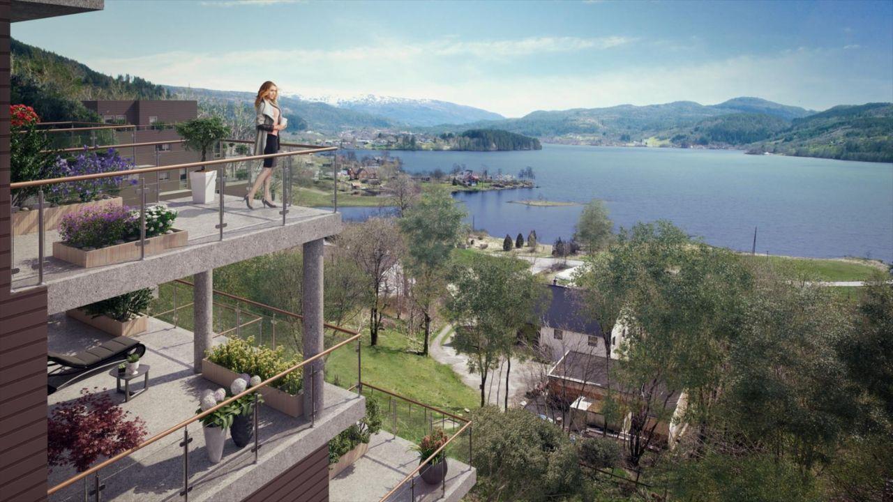 UTSIKTEN / KALANDSVANNET - 16 nye selveierleiligheter med fantastisk beliggenhet. Romslige 2- til 4-roms. Store terrasser/balkonger, solrikt med utsikt og fast garasjeplass. Salget er i gang.