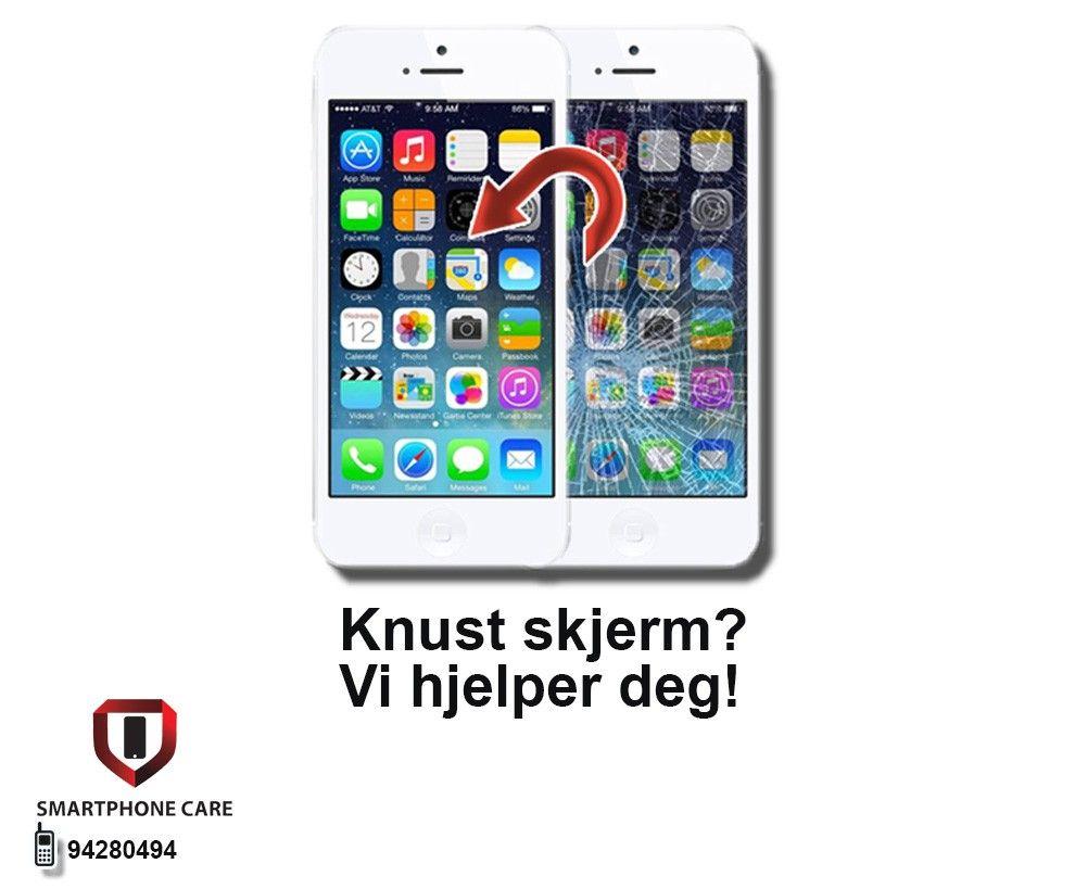 knust skjerm iphone 5 pris