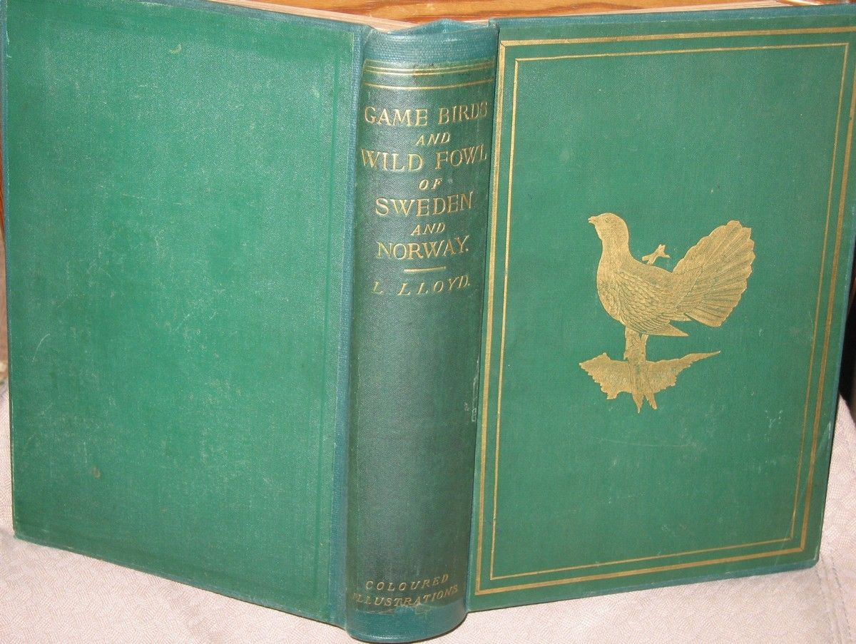 Lloyd: Game Birds and Wild Fowl of Sweden and Norway (1867) - Oslo  - Llewellyn Lloyd: Game Birds and Wild Fowl of Sweden and Norway (1867)  Lloyd, L. (Llewellyn): The Game Birds and Wild Fowl of Sweden and Norway; with an account of the Seals and Salt-Water Fishes of those countries. By L. Lloyd, author o - Oslo
