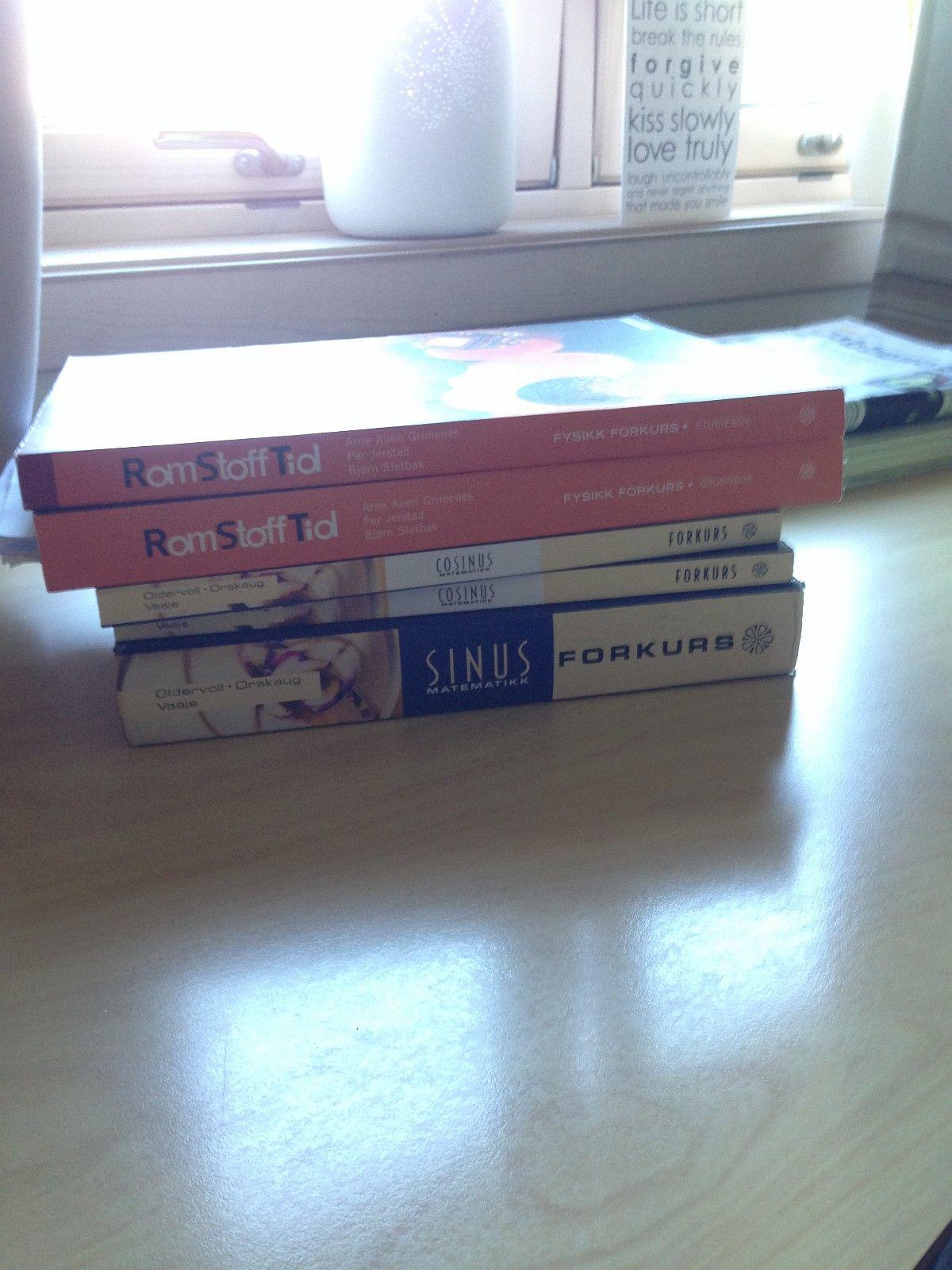 Bøker til ingeniørforkurs selges! - Borre  - Jeg selger Sinus forkurs (grunnbok) 450 kr, Cosinus forkurs 2 stk (oppgavebøker) 200 kr stk,  Alle bøker er pent brukte. Jeg var studass så brukte bøkene svært lite. - Borre