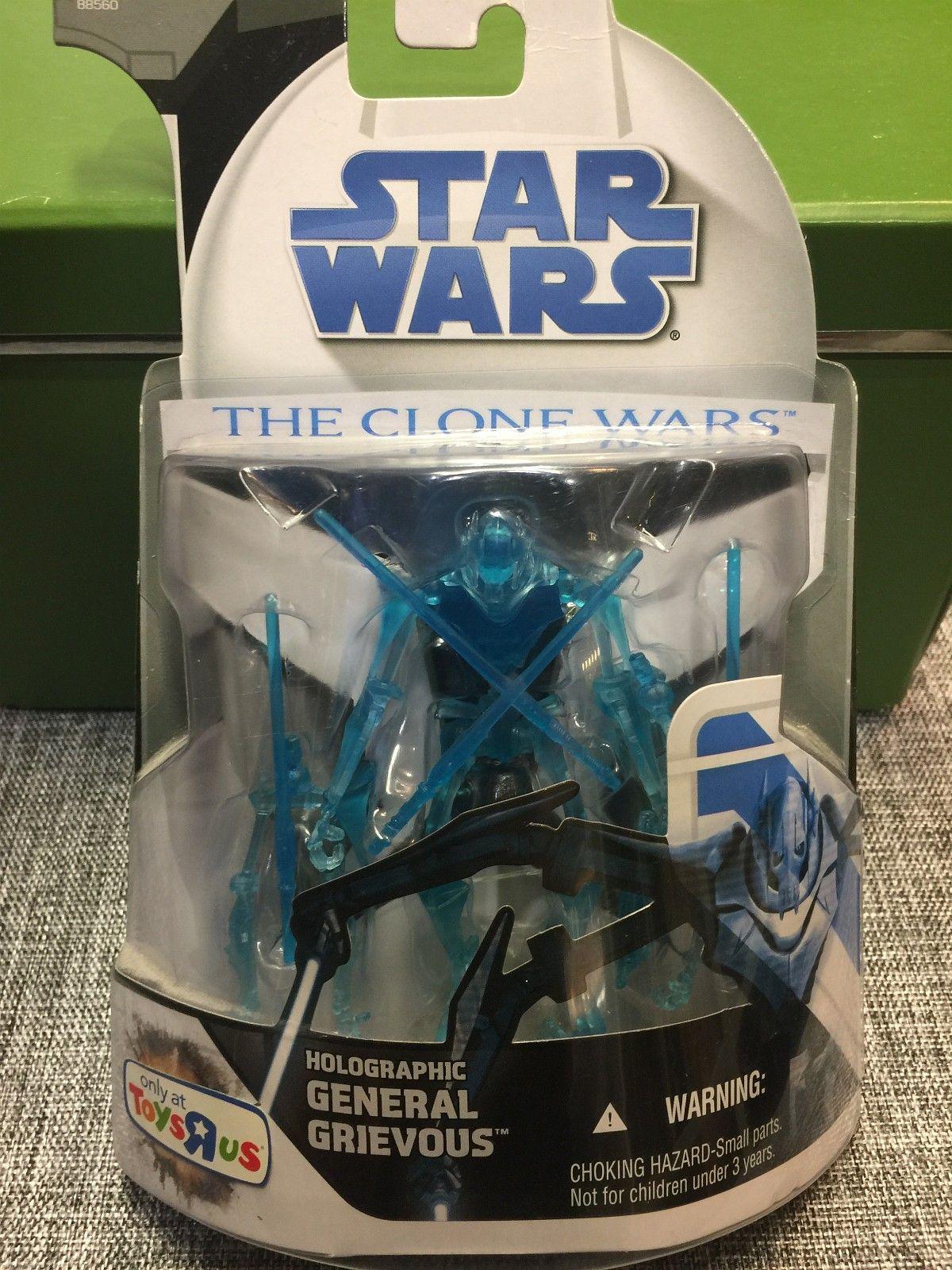 Star Wars General Grievous Holographic Toys r US Excl. - Stavanger  - Star Wars General Grievous Holographic Toys r us Exclusive  Denne er i eske. Om du lurer på kvaliteten på esken, se bilder.  Sender etter postens satser.  Betaling : Vipps Kontoover - Stavanger