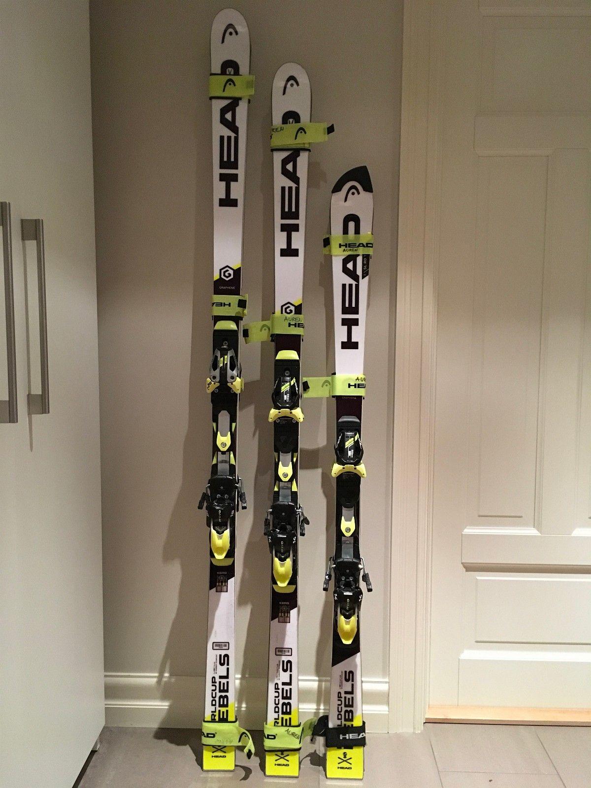 Head racing ski - Jar  - * Head RD SL 150 (11,8r) m/EVO 14 binding * Head RD SSL 176 (23r) m/EVO 14 binding * Head RD SSL 188 (30r) m/EVO 16 binding  Alle tre parene har vært rennski, er pent holdt og har rikelig med kant igjen. - Jar