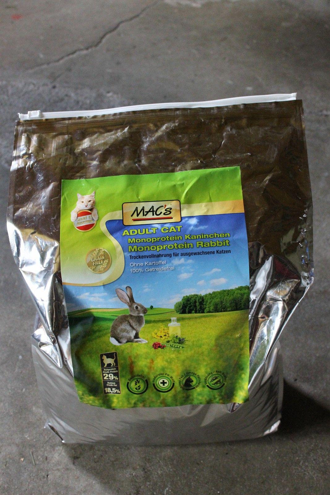 Mac's kvalitetsfor (kanin) med høyt kjøttinnhold 7kg - uåpnet - Bergen  - En hel, uåpnet pose med kvalitetsfor fra Mac's. Dette er monoproteinfor, som betyr at det har kun een proteinkilde. Dermed er foret egnet til katter som ikke tåler visse mattyper/proteinkilder.  Foret har et høyt innhold  - Bergen