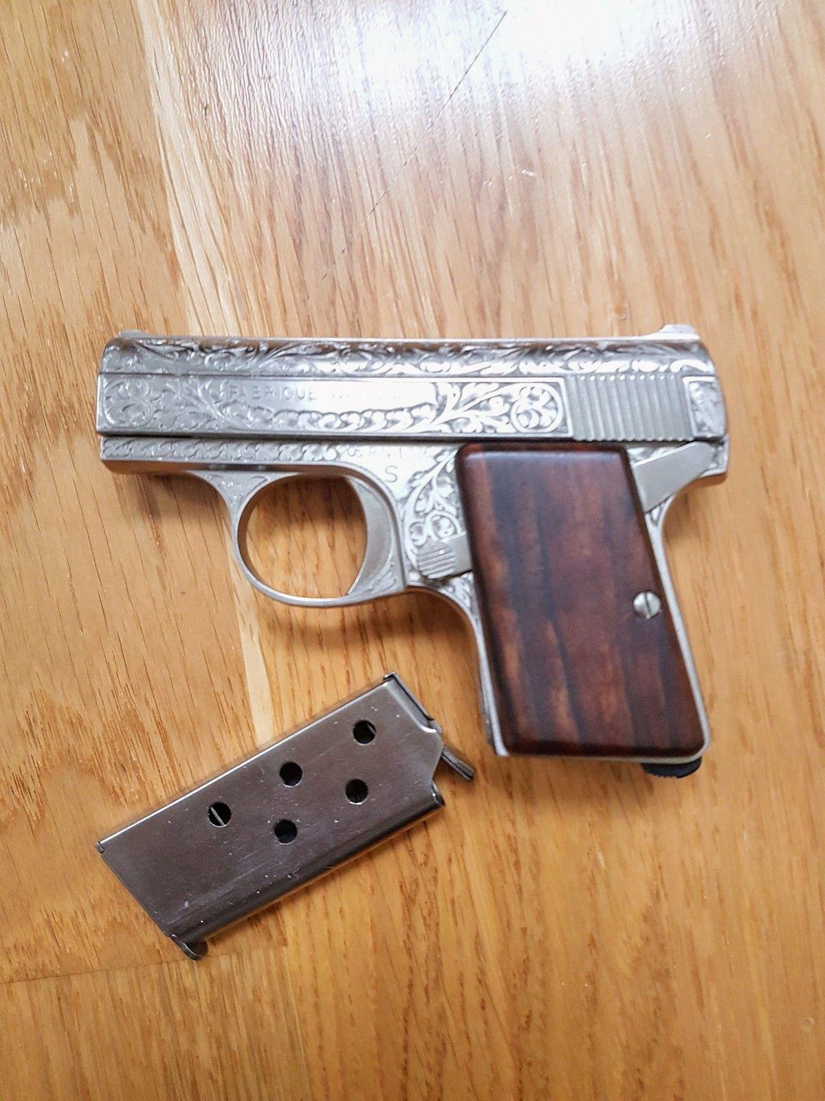 FN Browning 6,35 - Oslo  - Skjelden Browning - nummerert 47 av 1000.  Pistolen har aldri vært brukt.   Ved kjøp av våpen må det foreligge gyldig kjøpstillatesle fra Poitiet. - Oslo