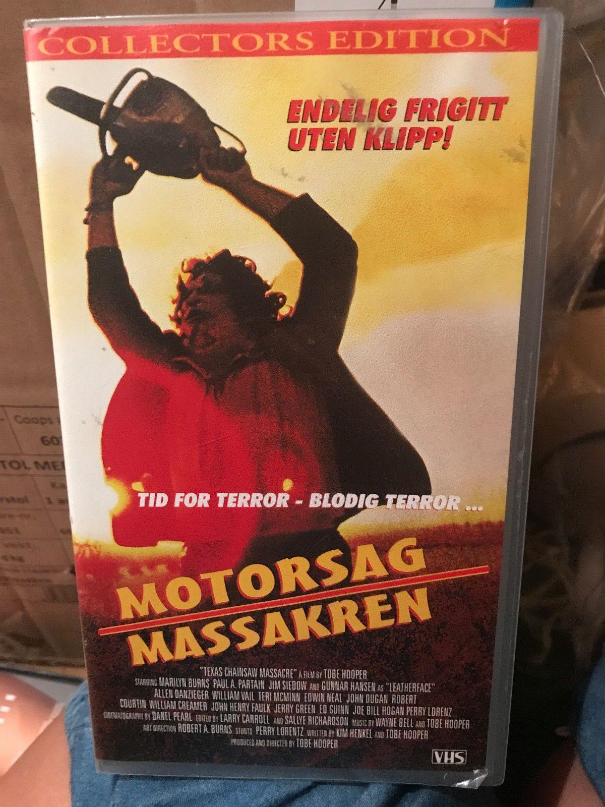 VHS bl.a motorsagmassakren, pulp fiction m m selges samlet - Nyborg  - VHS filmer selges samlet 100kr + porto. - Nyborg