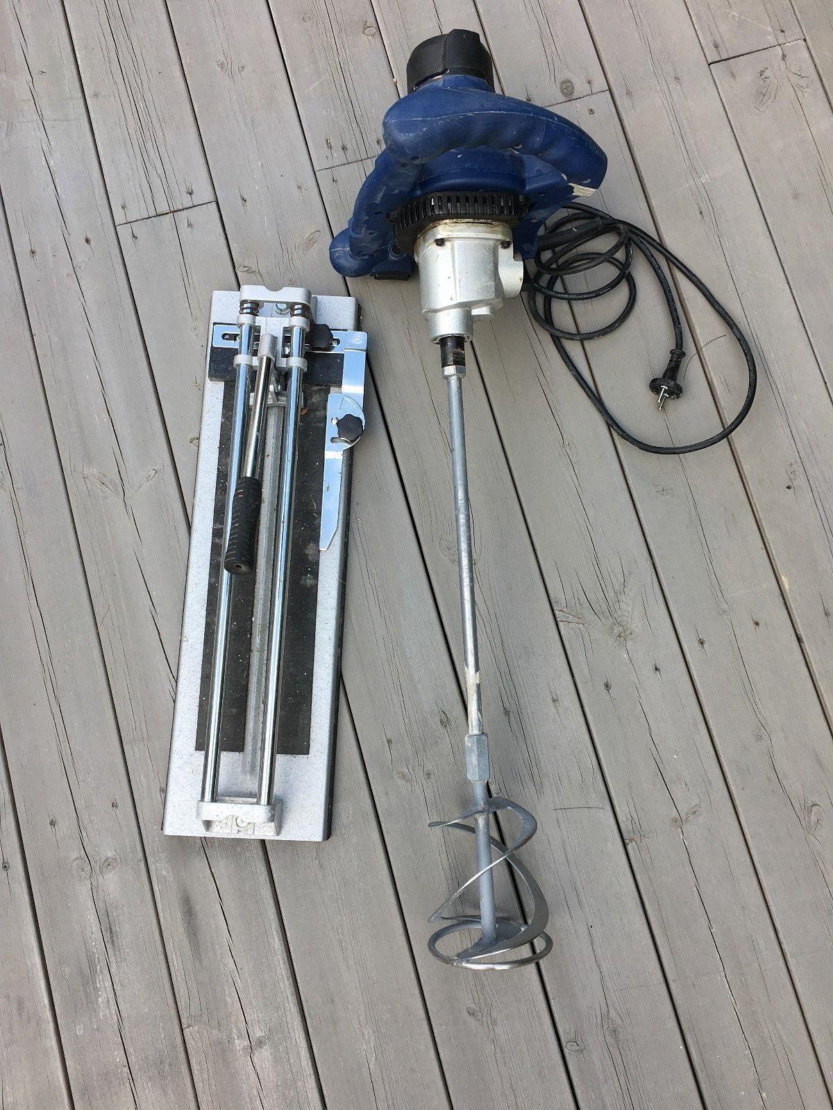 1600w maling- og mørtelblander m/flisekutter - Sørum  - Kraftig Mjølner maling- og mørtelblander brukt til ett prosjekt.  Du får med flisekutter også. - Sørum