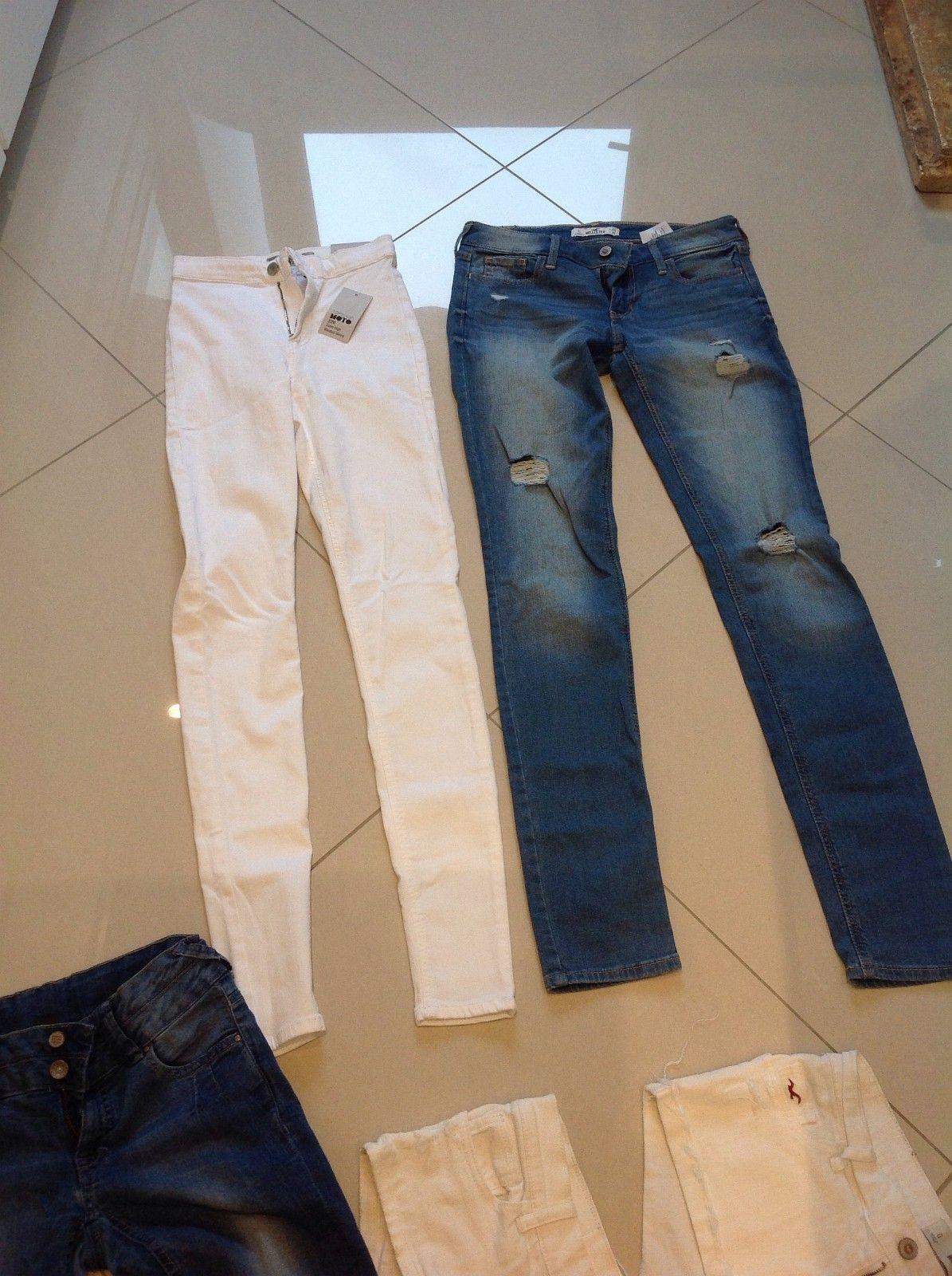 Jeans - Oslo  - Jeans fra top shop helt ny i vitt Str W26 L 34 pris 280kr holister jeans W 25L33 lite brukt 150kr - Oslo