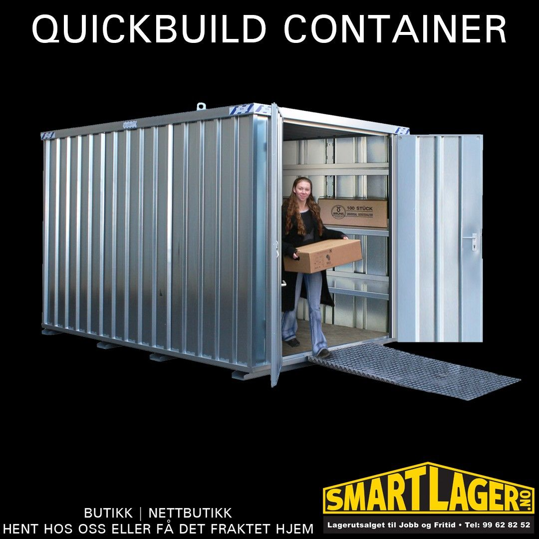 container 2x3 meter quickbuild lager bod .Smart lager