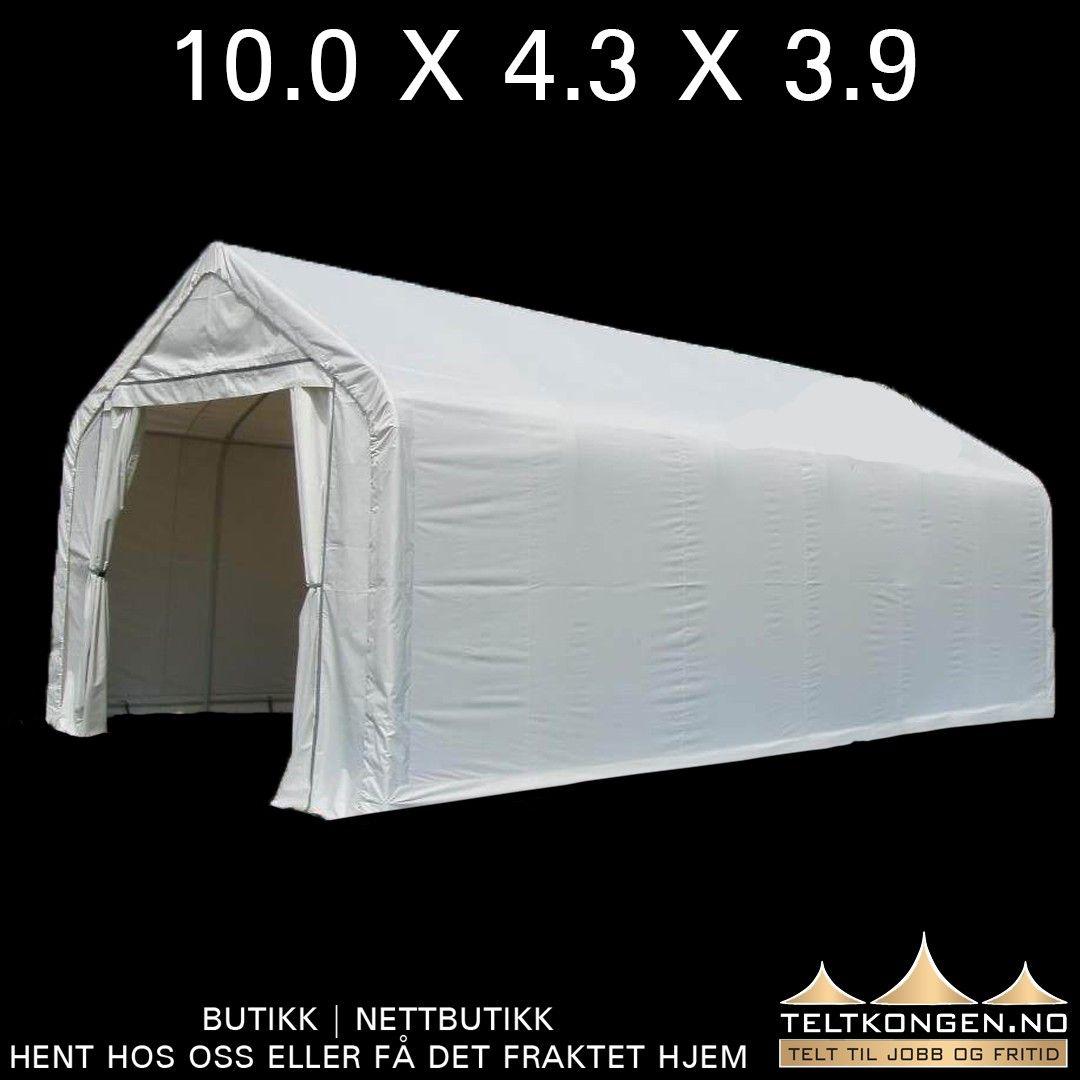 Smart teltplastgarasje. Bobil garasje 10,0 x 4,3 x 3,6