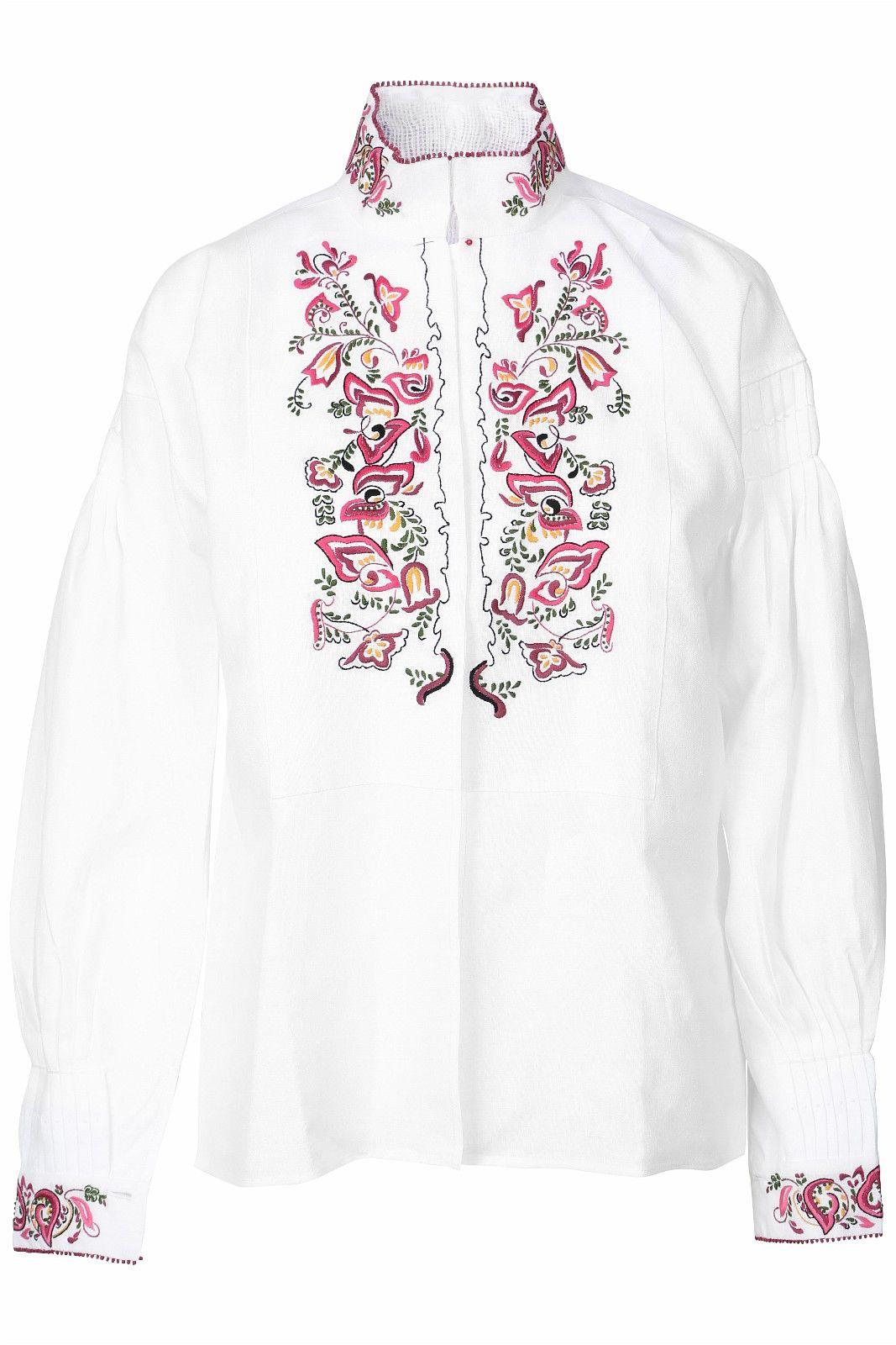 Bunadskjorte linskjorte til Øst Telemark rosa str.36 44