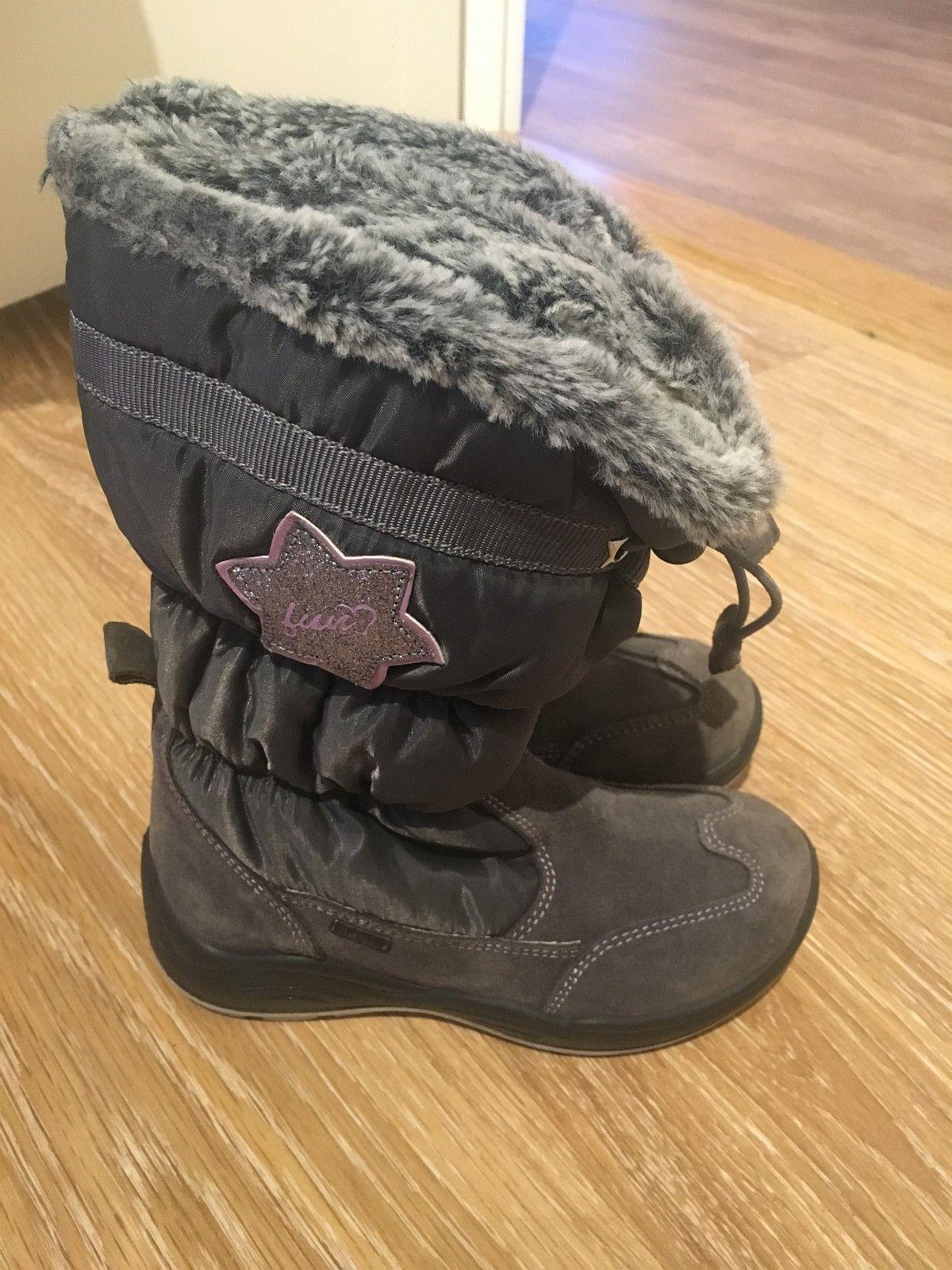 Grå vinterstøvler fra Geox - Slattum  - Grå vinterstøvler fra Geox, pent brukt. Ingen slitasje. Str. 31. - Slattum