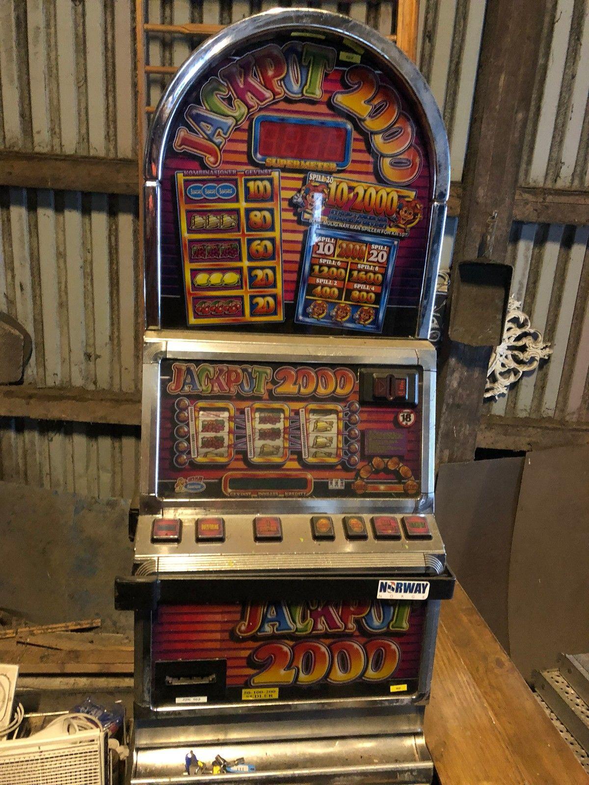 Arcade jackpot 2000 - Nærbø  - Ikkje testet. Og gir feilkoder på seddelautomat - Nærbø