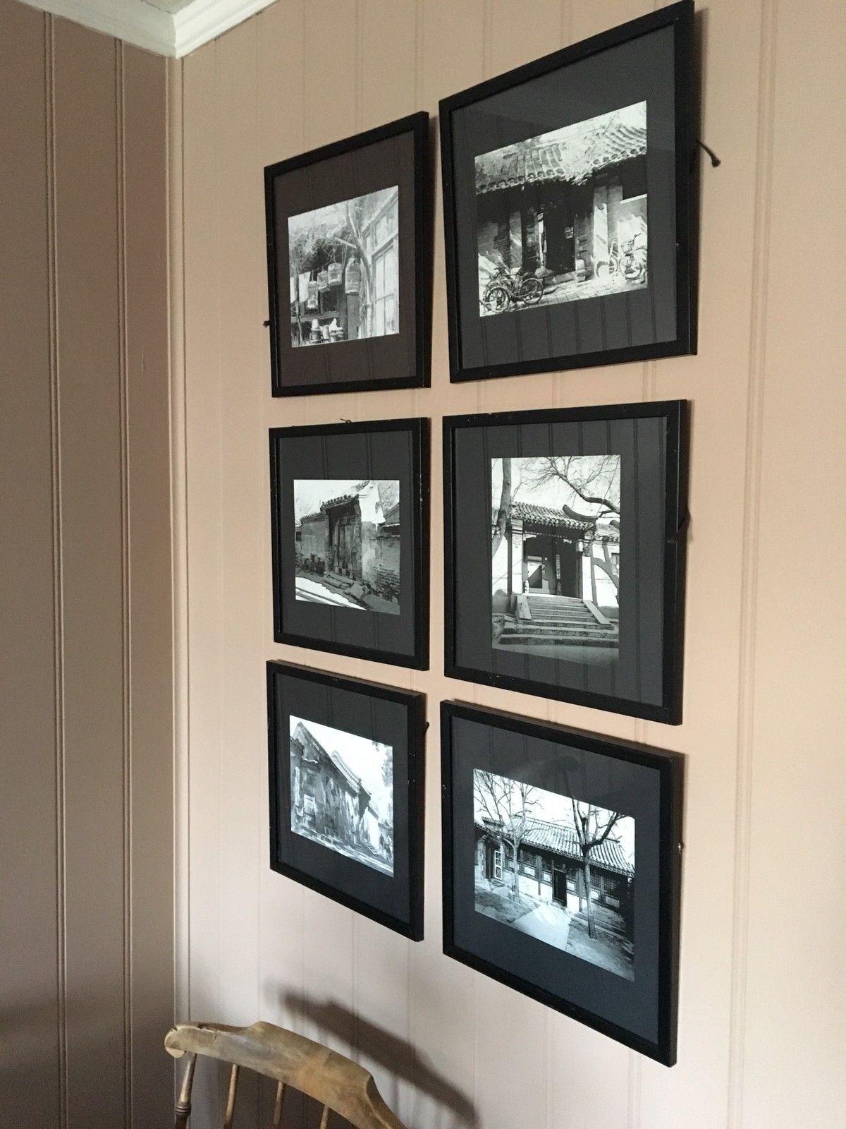 Bilder - Kongsberg  - Bilder fra Kina, noen riper i rammene selges samlet for 300,- mål: 34x34 - Kongsberg