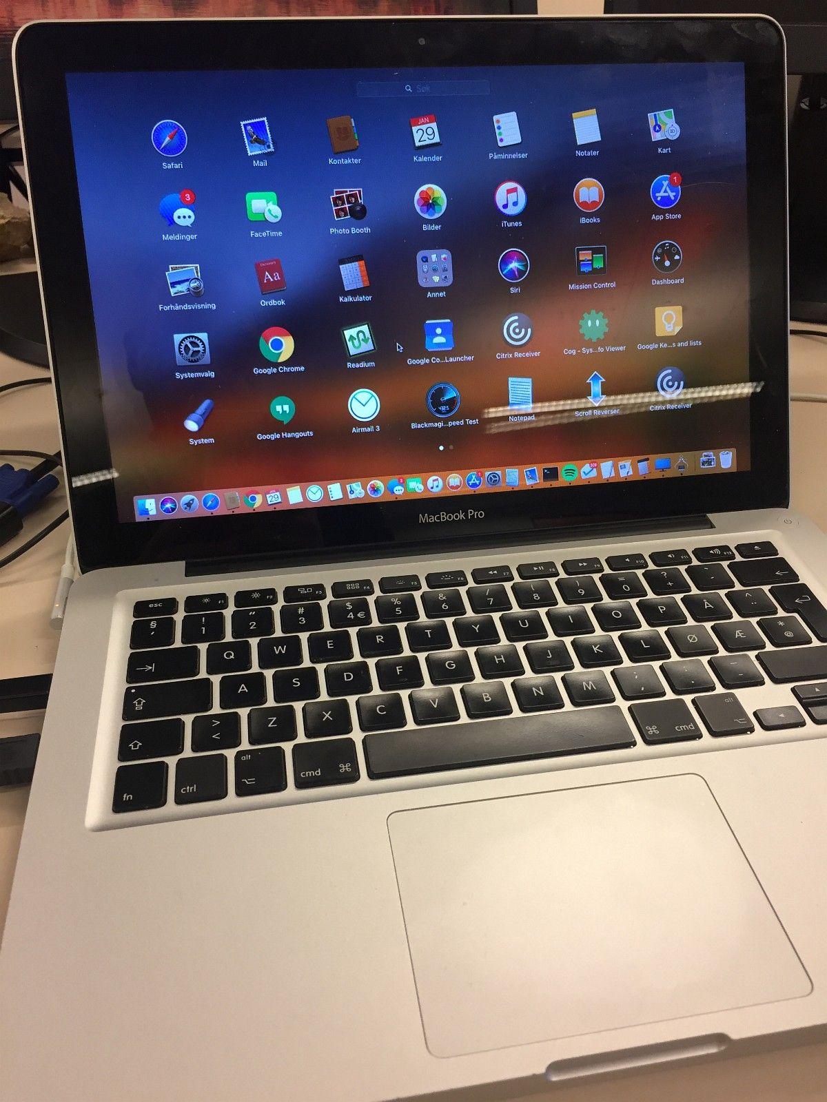 Macbook Pro mid 2012 med 8 gb minne og SSD - Bønes  - Pen Macbook Pro mid 2012 med 8 gb minne og ny Samsung 250+ GB SSD-disk på 120 GB. Intel Core i5-prosessor med 2,5 gHz hastighet.   Godt batteri med bare 92 ladesykluser.  Noen små hakk og bruksmerker, men ellers en he - Bønes