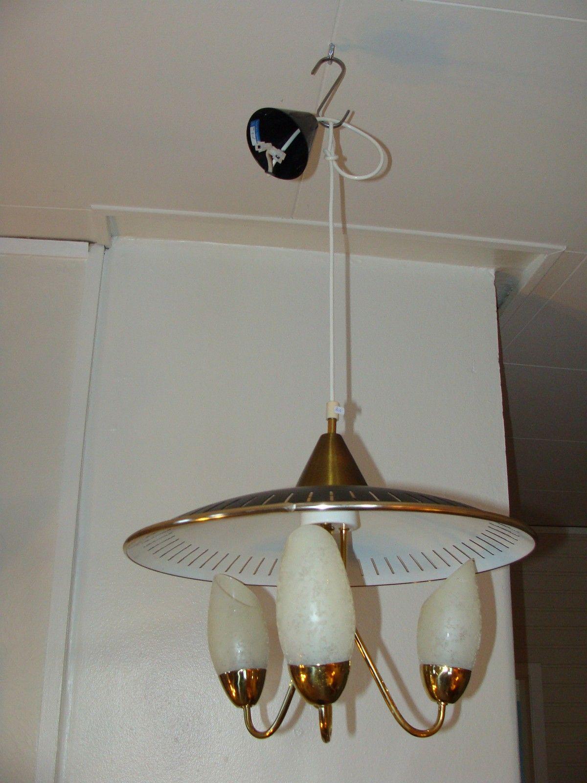 Retro prismekrone lampe lamper taklampe til salgs   FINN.no
