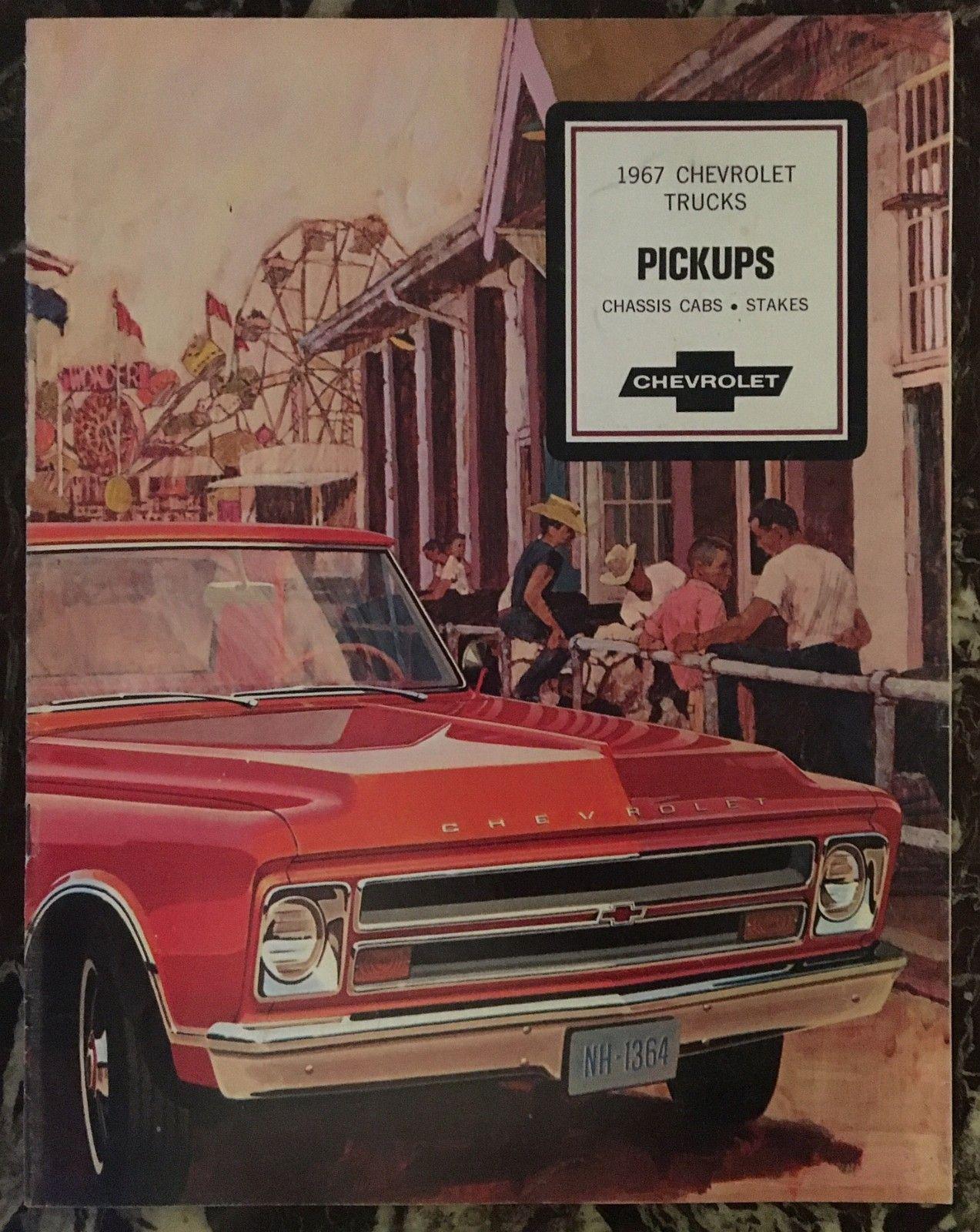 Original brosjyre til Chevrolet Pickup modellene for 1967 modell - Bergen  - Original brosjyre til Chevrolet Pickup modellene for 1967 modell   En fantastisk flott og original brosjyre som dekker hele Pick up programmet til Chevrolet for modellåret 1967. 16 sider i A4 format, og i farger.     I - Bergen