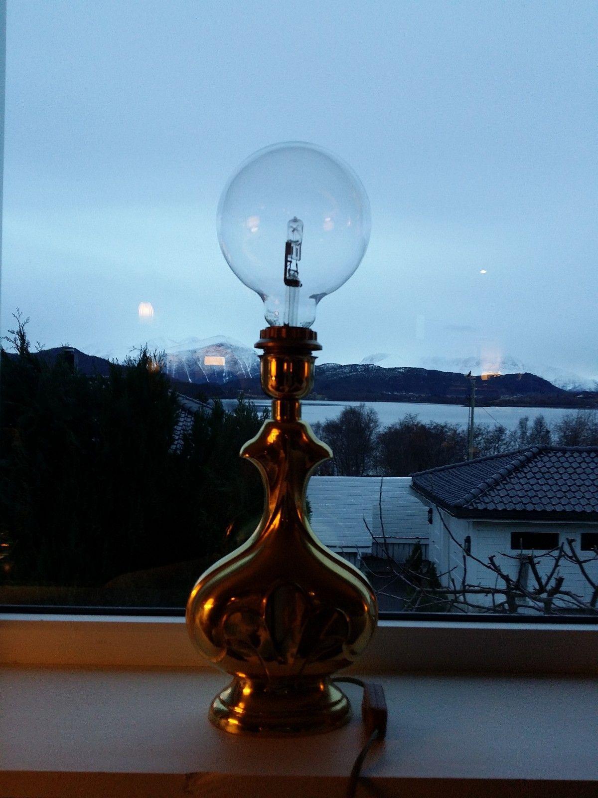 Retro messing lampe | FINN.no