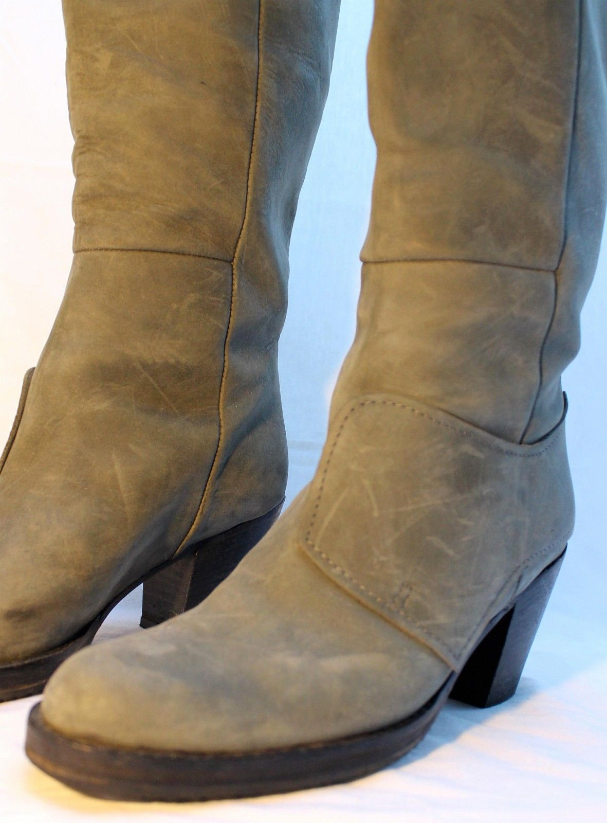 Pistol Tall leather knee boots
