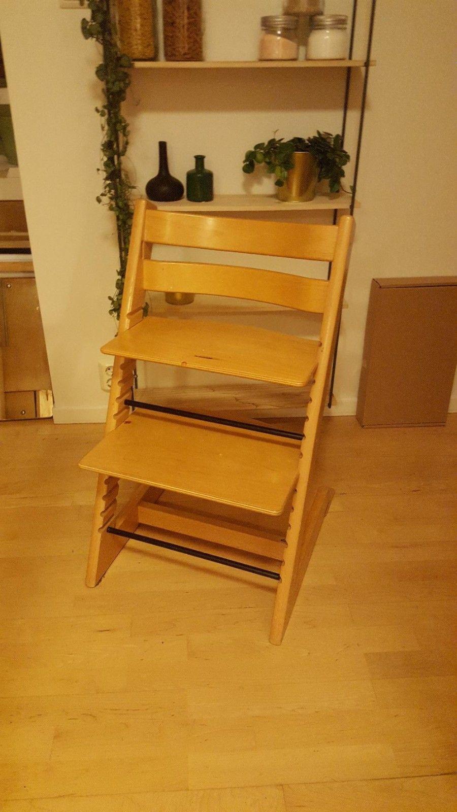 6b9b23b7 Stokke tripp trapp stol - Ulset - Brukt barnestol selges. Dette er en eldre  versjon