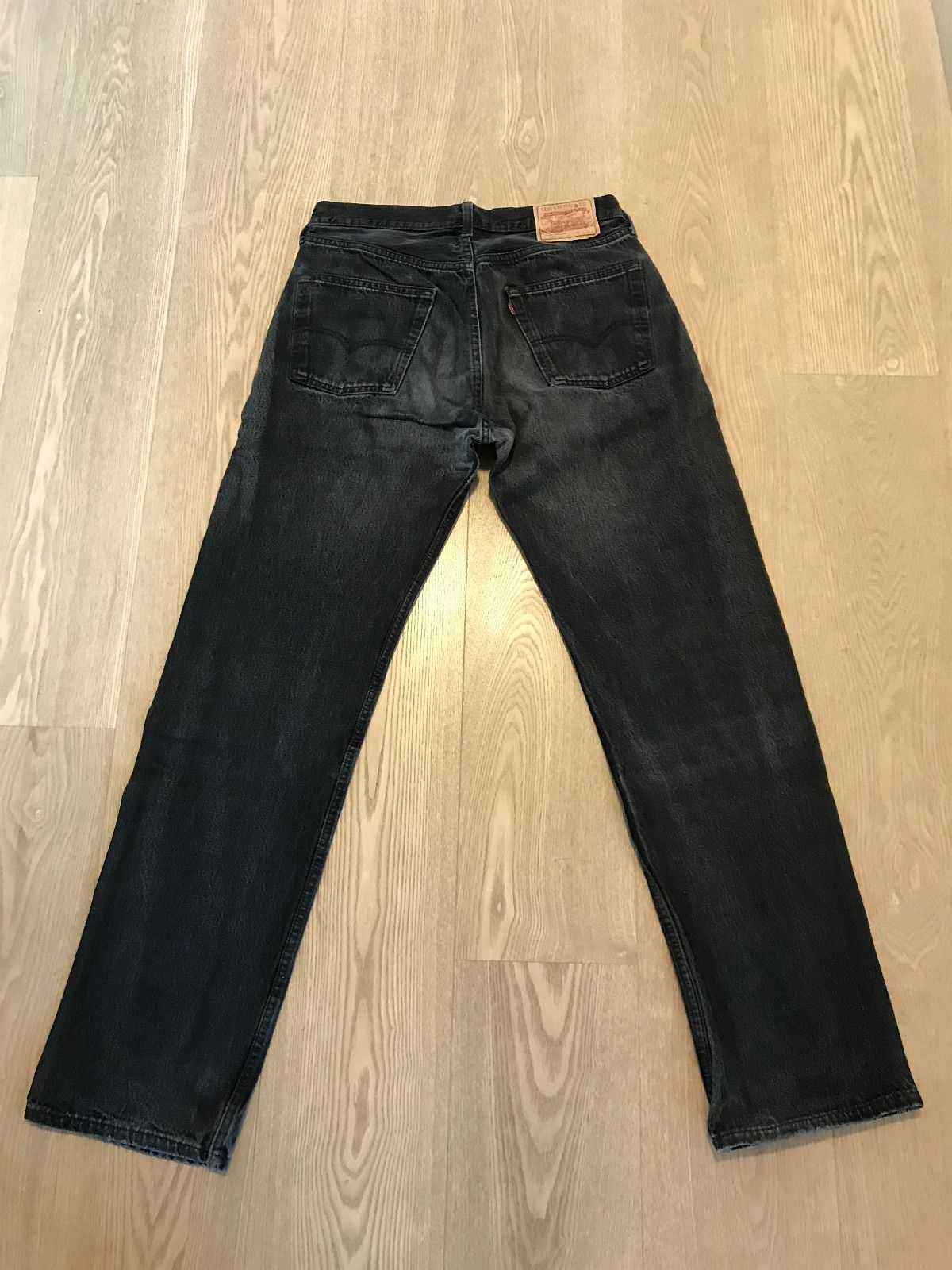 Supre vintage Levis 501 olabukser blå og sort jeans str 34